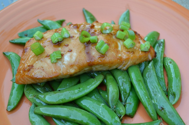 The Healthy Bachelorette: Teriyaki Salmon & Sugar Snap Peas