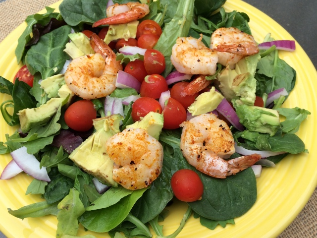 The Healthy Bachelorette: Summer Southwest Grilled Shrimp Salad