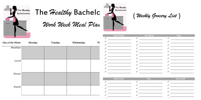 The Healthy Bachelorette Meal Planning Tools