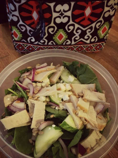 Brown Bagging it: Turkey & Cucumber Salad from The Healthy Bachelorette