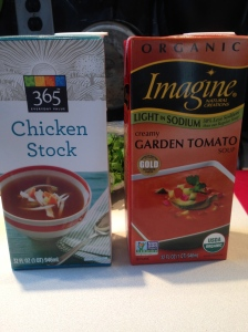 Good examples of stock and tomato base soup to use!