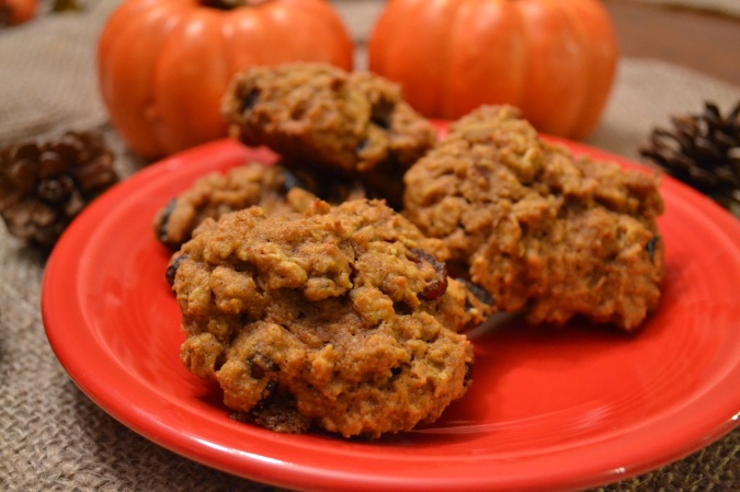 Cranberry Pumpkin Oat Cookies with Walnuts