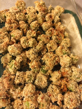 The healthy Bachelorette: Oven Fried Okra