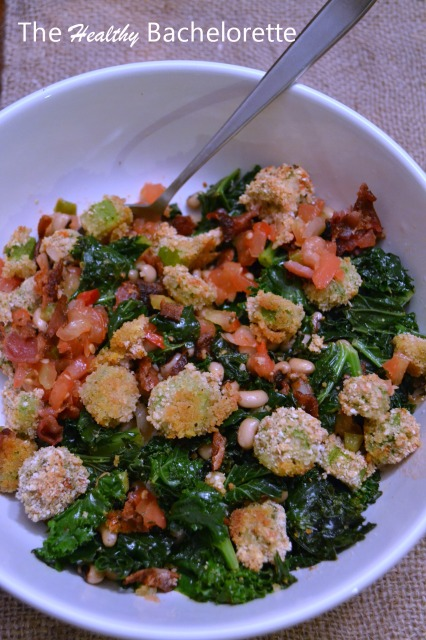 Venerated Veggie Bowl with Quinoa and Bacon