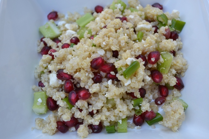 The Healthy Bachelorette Pomegranate and Quinoa Salad with Feta
