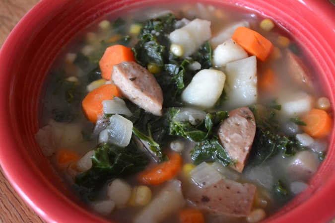 The Healthy Bachelorette: Kale and Red Potato Soup with Chicken Sausage