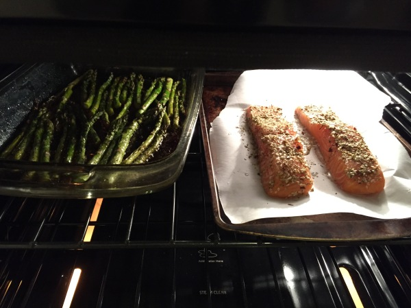 The Healthy Bachelorette: Roasted Salmon and Asparagus Dinner