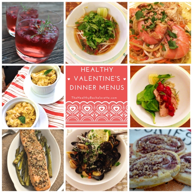 Healthy Valentine's Dinner Menus from The Healthy Bachelorette