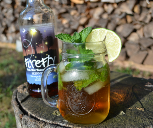 Mint and Lime Skinny Sweet Tea