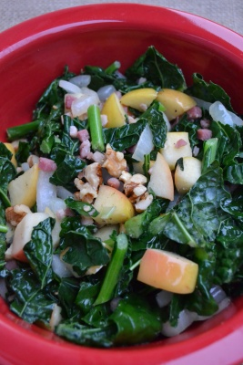 The Healthy Bachelorette: Warm Kale Salad with Apples and Pancetta