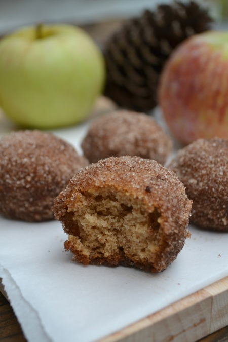 Baked Apple Cider Doughnut Holes from The Healthy Bachelorette