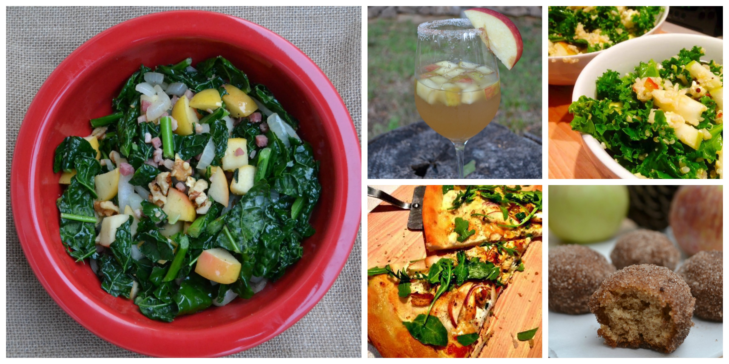 Warm Kale Salad with Apples, Walnuts and Pancetta 3 Cheese Apple and ...