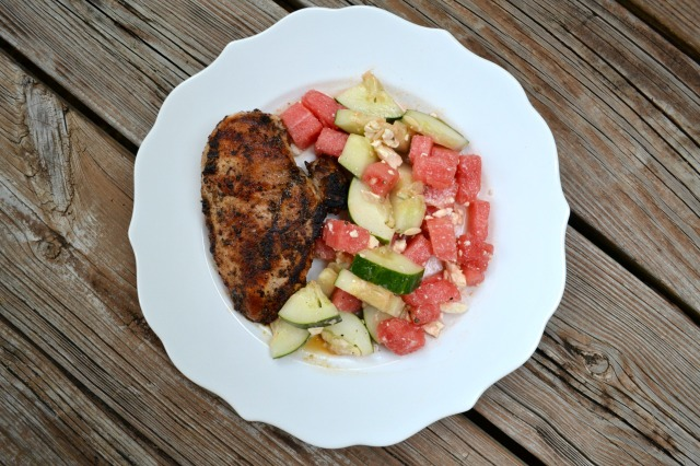 The Healthy Bachelorette: Simple Cucumber & Watermelon Salad
